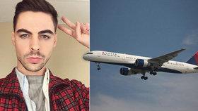 """""""Divoká"""" zkušenost pasažéra: Pilot ho během letu balil na gay seznamce"""