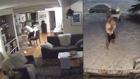Bosý otec s dcerkou v náručí utekl do mrazu před zemětřesením. Z videa je hit