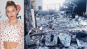 Ta má ale pech! Miley Cyrus minulý měsíc přišla o dům při požáru a teď ji vykradli!