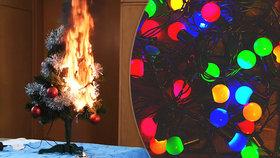 VIDEO: Požár od vánočních světýlek! Jak ho uhasit? Poznáte ta bezpečná?