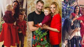 Celebrity u vánočního stromku: Bučková s bříškem, Něrgešová přežívá díky vínu!