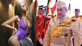 Pohádka končí? Malajsijský sultán a ruská sexbomba prý chystají rozvod