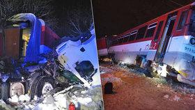 Vážná železniční nehoda: Kamion zablokoval přejezd: Narazil do něj vlak plný lidí!