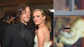 První snímek dcerky Diane Kruger a Normana Reeduse obletěl média, hvězda filmu Trója se rozlítila