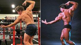 Nemanželský syn Terminátora Schwarzeneggera: Kopíruje otcovu slavnou pózu!