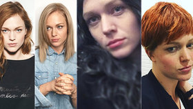 Ester Geislerová je jako chameleon: Blondýnka, zrzka nebo černovláska?