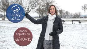O víkendu přijdou mrazy až -20 stupňů Celsia. Hrozí náledí i sněhové jazyky
