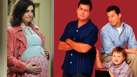 Rose ze seriálu Dva a půl chlapa porodila! Má kluka, nebo holku?