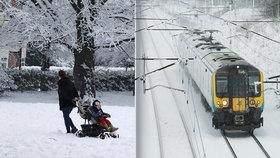 V Evropě přituhuje: V Británii je větší zima než v Rusku, Francii trápí sníh