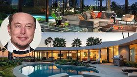 Elon Musk prodává svou vilu: Za 103 miliony se čtyřmi ložnicemi, bazénem a technickými vychytávkami