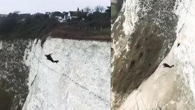 """Base jumper skočil z 55 metrů, a neotevřel se mu padák. Měl štěstí, vyvázl """"jen"""" se zlomenou páteří"""