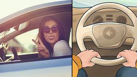 Zábavný test: Jak držíte volant? Tohle to o vás vypovídá!