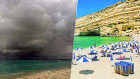 V dovolenkovém ráji zabíjela bouře: Nejméně dva mrtví na Krétě