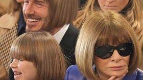 Harper Beckham vyrazila s ofinou jako Anna Wintour. Táta si z toho dělá legraci