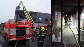 Při požáru azylového domu v Dalově zemřelo dítě! Způsobila ho nejspíš dětská hra s ohněm