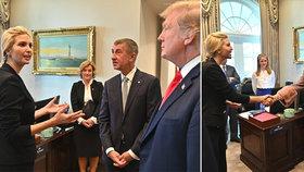 Babiš touží po Ivance, u babičky lobbuje květinami. Troufla si Trumpova dcera na češtinu?