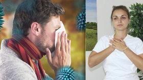 Stačí 5 pylových zrnek a alergici prožívají peklo! Tenhle cvik pomáhá!