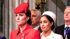 Kate Middletonová už to nedává: Zase nervy na pochodu kvůli Meghan!