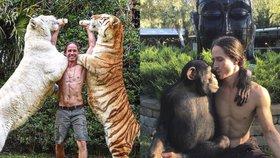 Novodobý Tarzan chce dokázat, že divoká zvířata nejsou nebezpečná! Věříte mu?