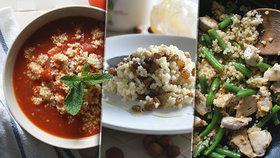 Perfektní rychlovka k obědu i večeři: Kuskus třikrát jinak! A vždycky zdravě
