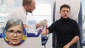 """Komik, který chce být prezidentem: Testy na drogy a výzva """"moderátorce"""" Tymošenkové"""