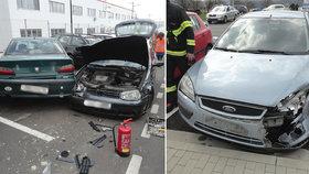 Řidič nedal přednost a způsobil nehodu: Zrušil celkem sedm aut!