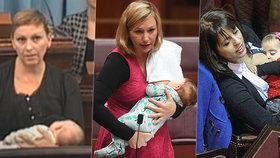 """Tyhle parlamentní """"kojičky"""" se toho nebojí: Političky odhalily ňadra i při projevu"""