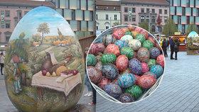 Jubilejní brněnské velikonoční slavnosti s obřím slepičím vejcem: Podobné má i papež ve Vatikánu!