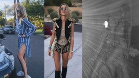 Žhavá jízda Kopřivové v Kalifornii bez Jágra: Dráždivé kostýmy i pózy, zalehnutí sexy svalovcem