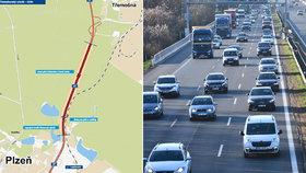 Dva kilometry za 340 milionů korun: Na okraji Plzně začala stavba silnice, zabrání jízdě v protisměru