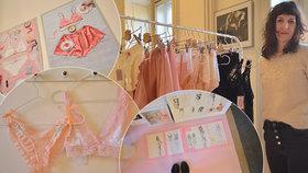 V duchu koketerie a rozmarnosti: Návrhářka Dominika ukazuje Praze své sexy spodní prádlo