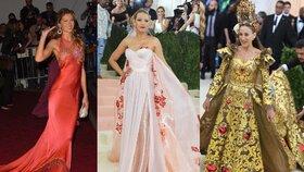 Nejkrásnější róby Met Gala z posledních let: Na tyhle šaty nezapomeneme!