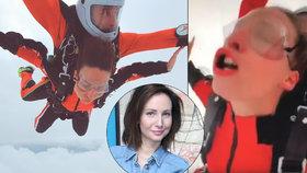 Arichteva vylíčila horor při seskoku padákem: Mysleli si, že jsem omdlela!