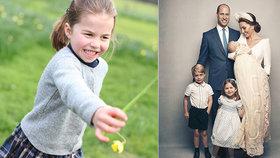 Malý andílek princezna Charlotte slaví 4. narozeniny: Hrdá Kate sdílela hravé snímky
