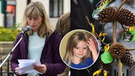 Máma Maddie propukla v pláč na vzpomínkové akci: Otec rychle odcestoval