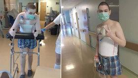 Student Aleš (16) po mrtvici bojuje s ochrnutím: Lidé ho chtějí podpořit sbírkou