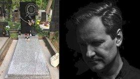 DJ Loutka (†51) má konečně hrob! Kamarádi se složili na zvláštní náhrobek