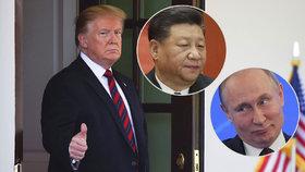 Trump se chlubí schůzkou s Putinem a Si Ťin-pchingem. Kreml o setkání mlčí
