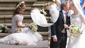 """Královská svatba """"české"""" princezny: Družičky se nudou válely po schodech, Harry utekl od Meghan"""