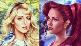 Slavné ženy jako postavičky z disneyovek: Poznáte Megan Fox nebo Rihannu?