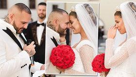 Slova, která na půl minuty zmrazila svatbu Rytmuse s Jasminou: Pronesl je ženich!