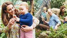 Královská rozkošňátka v akci: Kate s Williamem řádili s dětmi v lese