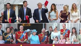 Trump vezme ke královně celou rodinu a na banketu ho čeká i Kate s Williamem
