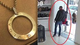 Krádež za všechny prachy! Zloděj sebral figuríně šperk za sto tisíc, pak se tvářil jako neviňátko