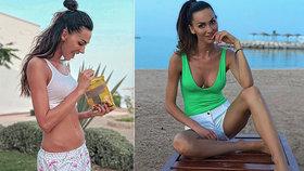 Věčně vychrtlá miss Bučková spolkla dvě lentilky a ukazuje velké břicho! Eliško, neblázni