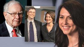 Exmanželka miliardáře Bezose dá půl jmění charitě. Jako Buffett a Gatesovi