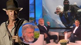 Odvážnější než Indiana Jones: Harrison Ford (76) vyskočil z letadla!