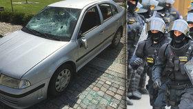 Další hromadná bitka v Kojetíně: Ránu tyčí schytal i policista