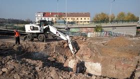 Tajemný objev na stavbě v Holešovicích: Našel se sklep z už neexistující čtvrti