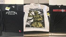 Na Slovensku chytili Čecha s taškou neonacistických triček: Přivezl si je z Ukrajiny